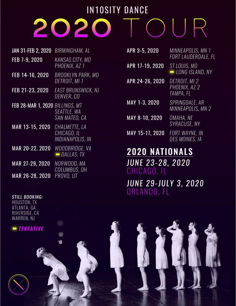 2020 Tour Dates 2020 Tour Dates : In10sity Dance